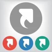 Hasta el icono de flecha — Vector de stock