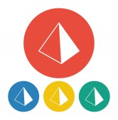 Pyramids icon — Vetorial Stock