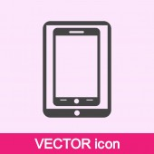 Modern digital tablet PC with mobile smartphone icon — Stock vektor