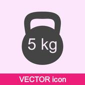 Dumb bells icon — Stock Vector