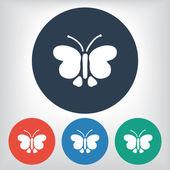 Ikona motyl — Wektor stockowy