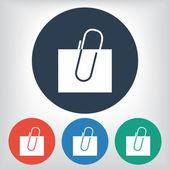 Paper clip icon — Stock Vector