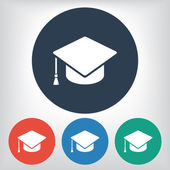 Graduation cap icon — Vecteur