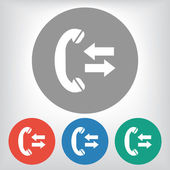 Incoming and outgoing calls sign icon — Vector de stock