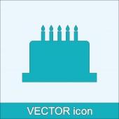 Birthday cake icon — Stock Vector
