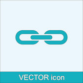 Chain link icon — Stock Vector