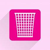 Trash bin icon — Stock Vector