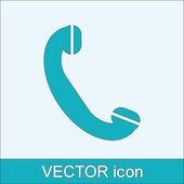 Phone, flat icon — Stock Vector