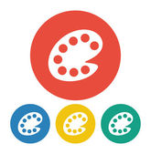 Palette icon — Stock Vector