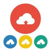 Cloud upload illustration icon — Stock Vector