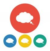 Comic speech bubbles icon — Stock Vector