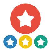 Star, favorite icon illustration — Vector de stock