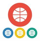 Basketbalový míč ikona — Stock vektor