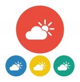 Weather Web icon illustration — Stock Vector