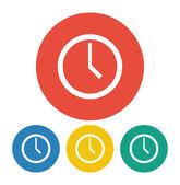 Clock icon illustration — Stock Vector