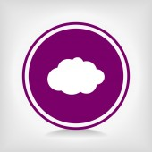 Icono de la nube — Vector de stock