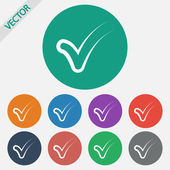 Confirm icons — Stock Vector