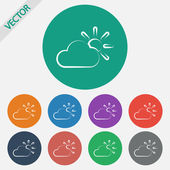 Weather Web icon — Stock Vector