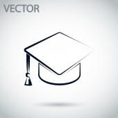 Graduation cap icon — Stockvector