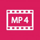 MP 4 video icon — Vector de stock