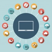 Laptop-ikonen — Stockvektor