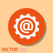 Setting parameters, e-mail internet icon — Stock Vector