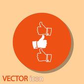 Pollice su icone — Vettoriale Stock