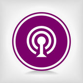 Kablosuz ağ wifi simgesi simgesi — Stok Vektör