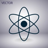 Abstract physics science model icon — Stock vektor