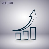 Infographic, grafiek pictogram — Stockvector