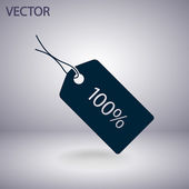 100 percent's icon — Stock Vector