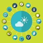 Weather Web icon — Vector de stock