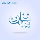 Smile talking bubble icon — Stock Vector