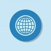 Globe Icon vector illustration. — Stock Vector