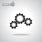 Icône d'engrenage — Vecteur