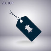 Leather tag icon — Stock Vector
