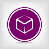 Cube icon — Stock Vector