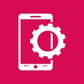 Nastavení parametrů, mobilní smartphone ikonu — Stock vektor
