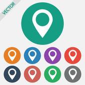 Map pointer flat icon — Vecteur