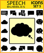 Bubble speech icons — Stock Vector