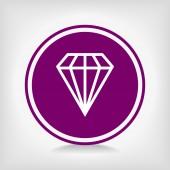 Diamond icon — Stock Vector