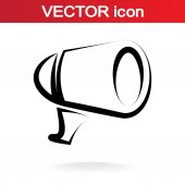 Megaphone icon — Stock Vector