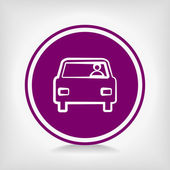車のアイコン — ストックベクタ