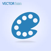 Color palette icon — Stock Vector
