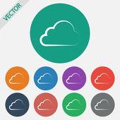 ícone de nuvem — Vetor de Stock
