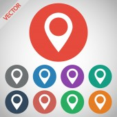 Map pointer flat icon — Vettoriale Stock