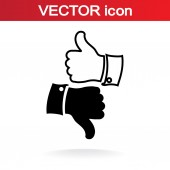 Thumb up icons — Stock Vector