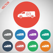 Fast 0-24 Delivery With Van — Stock Vector