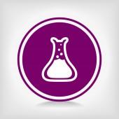 Laboratory glass icon — Stock Vector