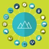 Mountain icon — Stock Vector